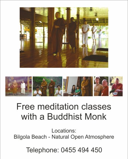 Meditate with a Buddhist Monk Flyer